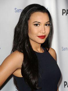 Naya Rivera in MAC Ruby Woo lipstick