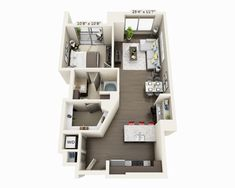 View stylish apartment floor plans, and availability at 100 Pier 4 in Boston. Pool House Designs, Sims House Design, Condo Design, Boston Apartment, Apartment Layout, Apartment Design, Apartment Living, Apartment Floor Plans, House Floor Plans