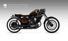 Yamaha Virago 535XV Brown Beezer by mephistosdesign #mephistodesign