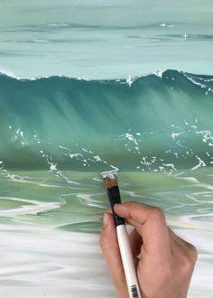 Surface Tension: New Collection Release April – Julie Kluh Art Seascape Paintings, Landscape Paintings, Mermaid Paintings, Wave Art, Ocean Art, Ocean Waves, Surf Art, Beach Art, Painting Techniques