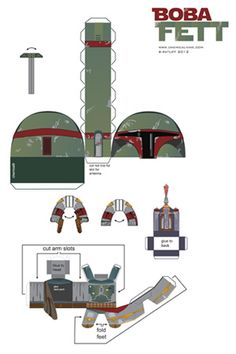 Chemical9: Boba Fett - Paper toy with printable template
