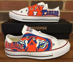 Auburn Tigers Low-Top Converse