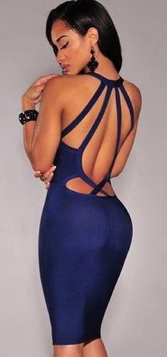 Short Sexy Dresses Party Evening Dresses for Women Hot Ladies Criss-Cross Hollow Backless Sleeveless Cocktail Sheath Dresses Online with $9.43/Piece on U_luck's Store | DHgate.com#dhgatepin