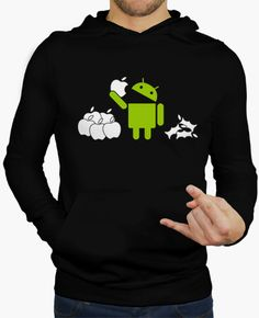 hoodie android eating apples 2