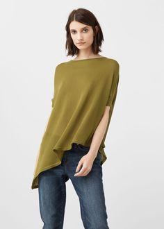 Pullover mit asymmetrischem saum -  Damen | MANGO Deutschland