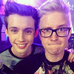 """""""So much fun with this punk (@Troye Sivan) today on the #playlistlive mainstage."""""""