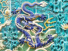 Singapore dragon tiles.