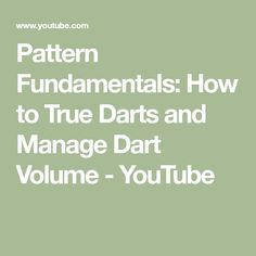 Pattern Fundamentals: How to True Darts and Manage Dart Volume Darts, Alexandra Morgan, Learning, Youtube, Pattern, Blog, Sewing, Dressmaking, Couture