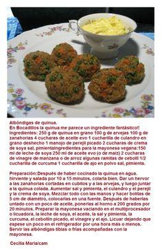 Bocaditos de albondigas de quinoa.