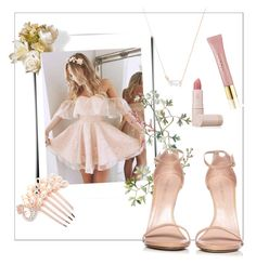 """""""Sugar Plum Fairy {#4}"""" by ponydem ❤ liked on Polyvore featuring National Tree Company, Stuart Weitzman, Kendra Scott, AERIN and Lipstick Queen"""