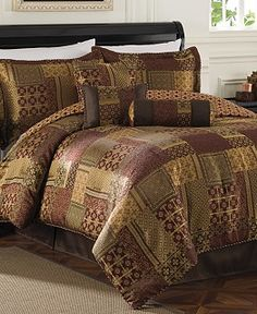Medici 7 Piece Jacquard Comforter Sets - Bed in a Bag - Bed & Bath - Macy's