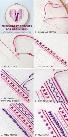 7 Embroidery Stitche