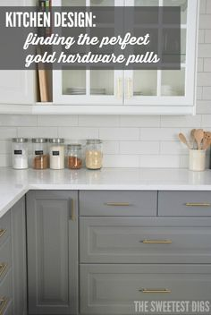kitchen design: choosing gold hardware pulls and install guide