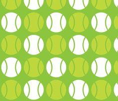 Green Tennis Balls custom fabric by audreyclayton for sale on Spoonflower Beach Tennis, Tennis Party, Tennis Ball Crafts, Tennis Wallpaper, Geometric Fabric, Craft Stick Crafts, Golf Ball, Custom Fabric, Spoonflower