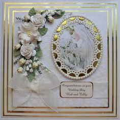 """Hi Folks! Here is a little card i made this week. It's a 8"""" square Wedding card which i decided i wanted to experiment with, and use so..."""