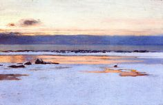 William Blair Bruce (Canada 1859-1906) Afterglow (1903)oil on canvas 29.5 x 45 cm