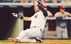 7/18/2014 - Derek Jeter had two singles in four at bats in this game in both occasions he was driven in by two Yankees' off season acquisitions Beltran and Ellsbury.