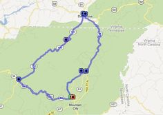 The Snake Loop - This outstanding motorcycle ride samples some of the best of the combination of roads that make up the rides known collectively as The Snake Loop. Enjoy some very challenging curves with a favorite Tennessee loop ride which dips a corner in Virginia. Takes at least 90 minutes. http://www.blueridgemotorcycling.com/ride-maps/best-of-the-snake/#sthash.iY4mkWRW.dpuf