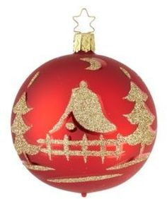 Inge's Christmas Decor Glittery Glass Ball Christmas Ornamenthttps://api.shopstyle.com/action/apiVisitRetailer?id=535144399&pid=uid2500-37484350-28