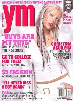 YM magazine: incorrectly informing adolescent girls on how they should act around boys, what makeup and clothes to wear, & how skinny they should be. No wonder so many girls grow up to have self image problems.