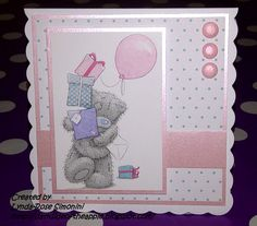 It's been quite a long time since I made a post here! I haven't been making many cards as most of my stuff has been packed away whilst I re. First Birthday Cards, Birthday Cards For Women, Handmade Birthday Cards, Homemade Christmas Cards, Homemade Cards, Baby Girl Cards, Tatty Teddy, Card Sketches, Kids Cards