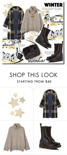 """Winter Song"" by cherry1987 ❤ liked on Polyvore featuring VILA, Bethany Lowe, WithChic and Dr. Martens"