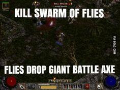Diablo II logic.