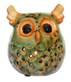Introducing the Single Owl Candleholder, your soon-to-be newest favorite piece of décor. This adorable little accent features everything you love most about the bird - the chubby body, sweet expression and large eyes. Large Eyes, Incense, Candle Holders, Owl, Birds, Candles, Sweet, Candy, Porta Velas