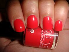 coral nail colour by Korres Natural Products