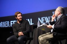 Jake Gyllenhall Photos - Jake Gyllenhall speaks to Ed Zwick during the 2010 New Yorker Festival In Conversation with Jake Gyllenhaal and Ed Zwick at SVA Theater 1 on October 2, 2010 in New York, New York. - The 2010 New Yorker Festival:  In Conversation with Jake Gyllenhaal and Ed Zwick