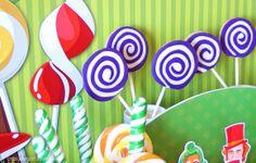 WONKA cookie pops Hugo's 7th Birthday - Willy Wonka Inspired Theme