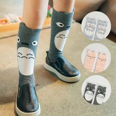 c79a463aa Totoro Owl Cat Children Clothes Infant Clothing Korean Baby Sock Autumn  Crochet Socks For Kids Boys Girls Knit Knee High Socks C13468