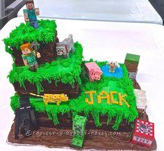 Easiest Minecraft Cake Ever... Coolest Birthday Cake Ideas