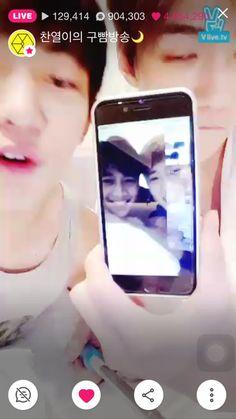 151202 #Minho with #Suho appeared on EXO's V App broadcast #Shinee