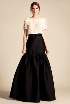 Temperley London Resort '14 ~ black drop waisted skirt