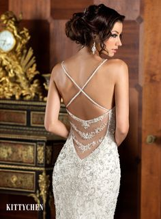 K1403 Ariana - Close up Back View | 2015 Kitty Chen collection