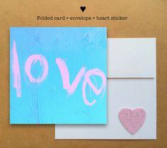 Blank photo card printed on recycled paper // shared with love // profits support clean water projects // New York love graffiti street art (©Whitney Welshimer)