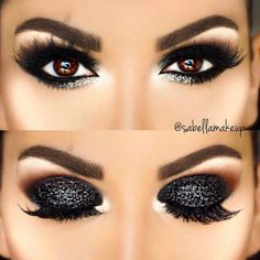 Ideen für Make-up Naturales Noche - Makeup İdeas Elegant Eyeshadow Looks, Eyeshadow Makeup, Eyeliner, Makeup Eyes, Beauty Makeup, Hair Makeup, Black Smokey Eye, Smoky Eye Makeup, Creative Makeup Looks