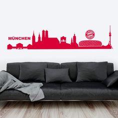 Wandtattoo FC Bayern München von K&L Wall Art. Die offiziellen Lizenzmotive für den FC Bayern werden portofrei geliefert. FCB Wandsticker exklusiv bei Wall-Art.