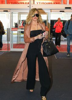 "daiilycelebs: "" 3/3/16 - Khloe Kardashian at JFK Airport. """