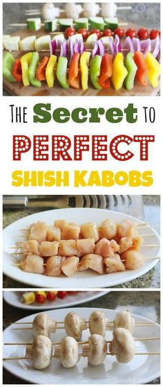 kabobs are so much better with this easy trick! Whether you grill steak, chicken, veggies, or any other kabobs . Summer Grilling Recipes, Summer Recipes, Healthy Grilling, Comida Diy, Snacks Saludables, Kabob Recipes, Recipies, Cooking Recipes, Healthy Recipes