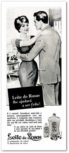 EMBALAGEM DO LEITE DE ROSAS EM 1950 - Pesquisa Google