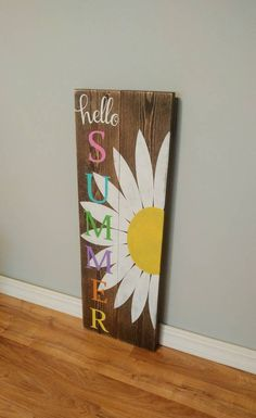 Hello Summer  Welcome Sign  Welcome Peeps  Porch by EBABCreations