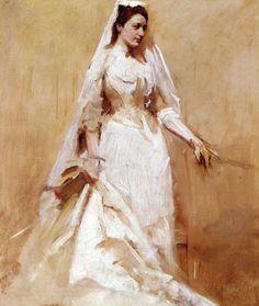 .:. Abbott Handerson Thayer - A Bride