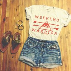 shirt shorts shoes t-shirt weekend warrior cool relax.