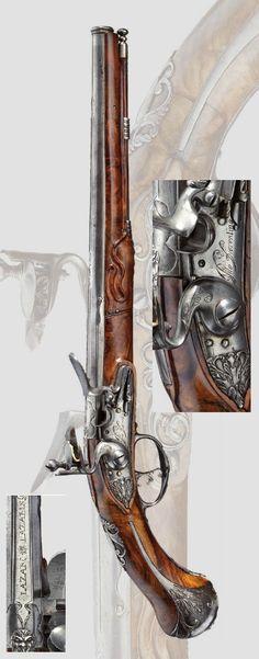A long flintlock pistol, Pito Fiorentino, Brescia, Circa 1680
