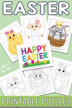 Easter Printable Puzzles for Kids #freeprintables #easterprintables #printablepuzzles