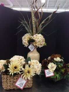 New tans and beige traditional arrangements. 2015   Laura A.     Michaels Tulsa (3864)