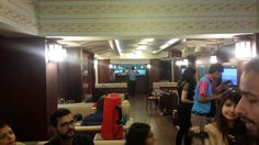 The interiors of Imly, the new restaurant at Rajendra Place that is modeled on a train