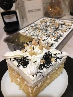 Greek Recipes, Dessert Recipes, Desserts, Food To Make, Recipies, Good Food, Food And Drink, Pudding, Sweets